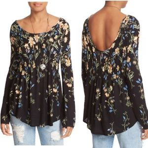 Free People Dahlia Floral Top